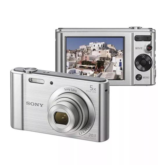 Câmera Digital Sony W800 Cyber Shot 20.1mp Tela Lcd