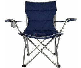 Cadeira Dobravel Boni Azul Camping Pesca Nautika Bolsa