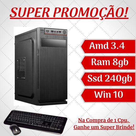 Cpu Star And 240gb - Ssd 8gb Ram Win10 Wifi - Aproveite!