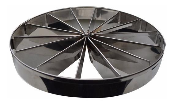 Marcador De Fatias Para Torta 28cm Em Aço Inox 10 Fatias