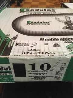Cable Eléctrico Condulac Thw Calibre 10