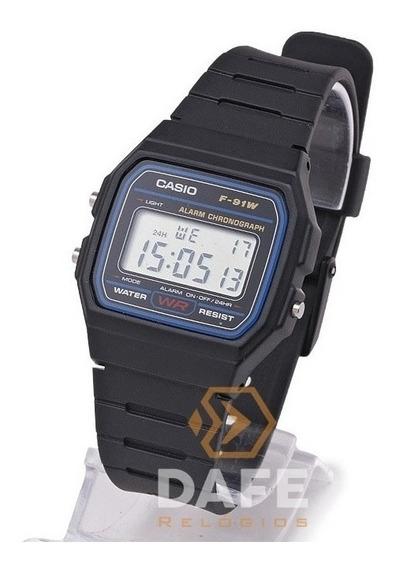 Relógios Masculino Feminino Casio F-91w Série Prata Barato