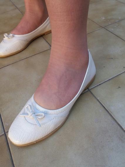 Zapatos Chatitas Blancas Nro 36