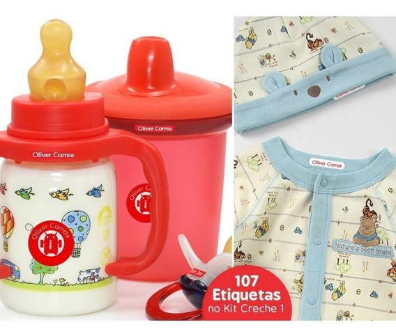 107 Etiquetas Personalizadas A Prova Dágua Kit Para Creche