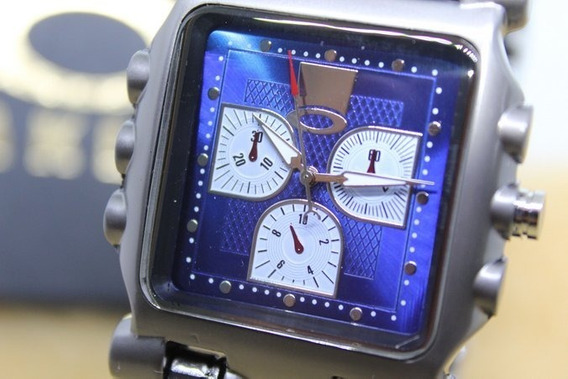 Relógio Tank Minute Machine Aokley Azul Com Caixa