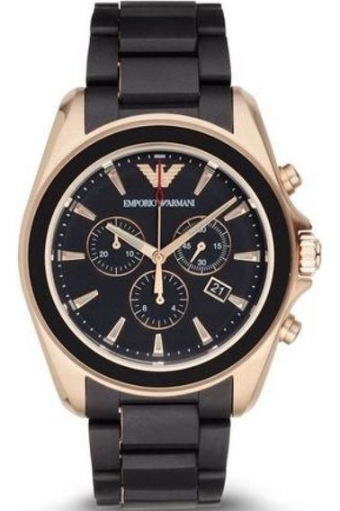 Reloj Emporio Armani Ar-6066 Negro/ Dorado Fino Deportivo