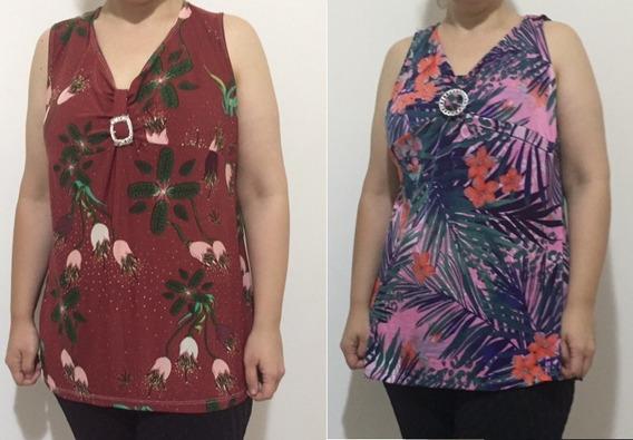 10 Regata Blusa Senhora Plus Size Evangelica Linda Camisa