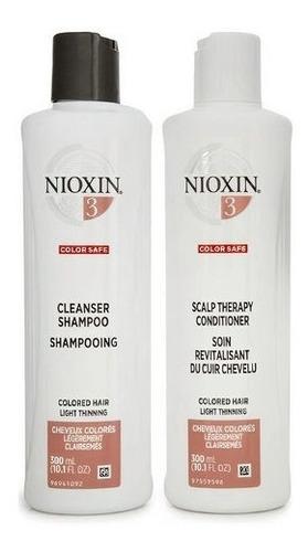 Imagem 1 de 1 de Kit Nioxin Nº 4 System Shampoo 300ml & Condicionador 300ml