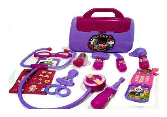 2maleta Doutora Brinquedos C/ Acessórios 11 Peças Kit Médica