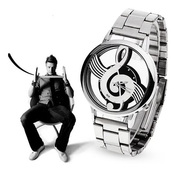 Relógio Masculino Clave De Sol Promoção + Pingente