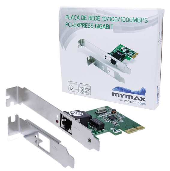 Placa De Rede Gigabit Pci-express X1 Mymax - Low Profile Nfe