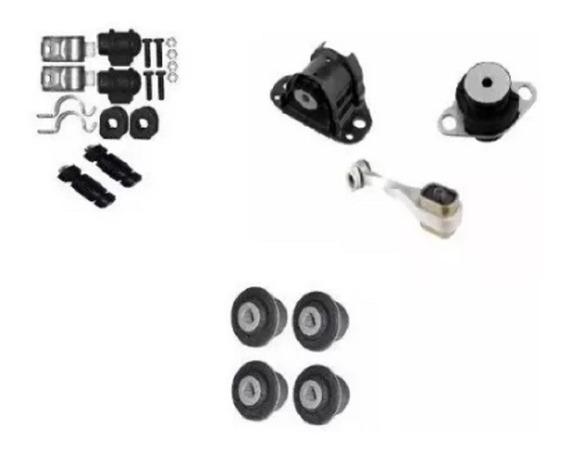 Kit Calço Coxim Motor + Bucha E Bieleta Clio 1.0 8v 16v