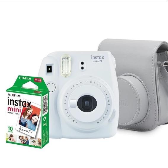 Kit Câmera Instantânea Fujifilm Instax Mini 9 Branco Gelo