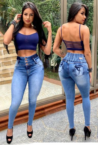 Calça Jeans Feminina Levanta Bumbum Estilo Pitbull Envio Já