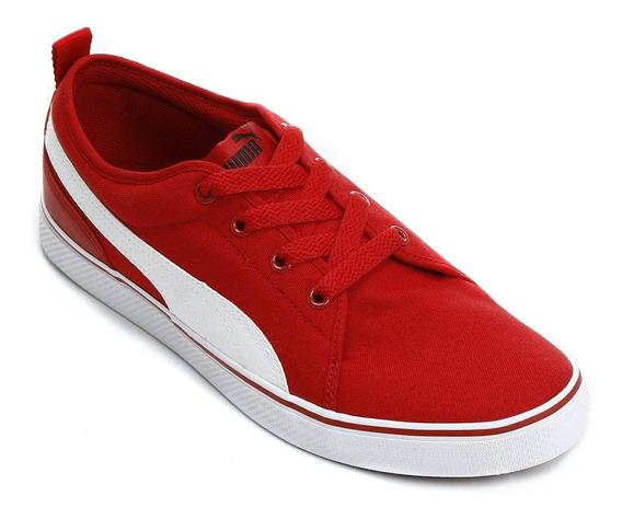 Tênis Puma S Street Vulc Cv 43 Vermelho Skate Casual