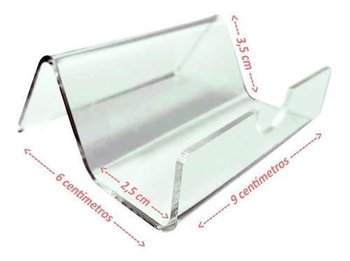 Display Suporte Porta Cartão De Visita Em Acrílico Cristal
