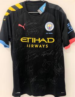 Camisa Manchester City 2019/20 Autografada 19 Jogadores