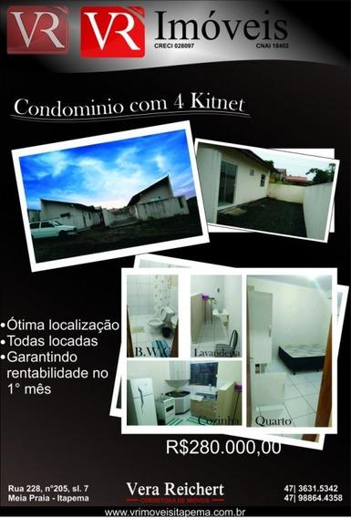 Vende Condominio Com 4 Kitnets Mobiliadas Ja Locad - Imb771 - Imb771