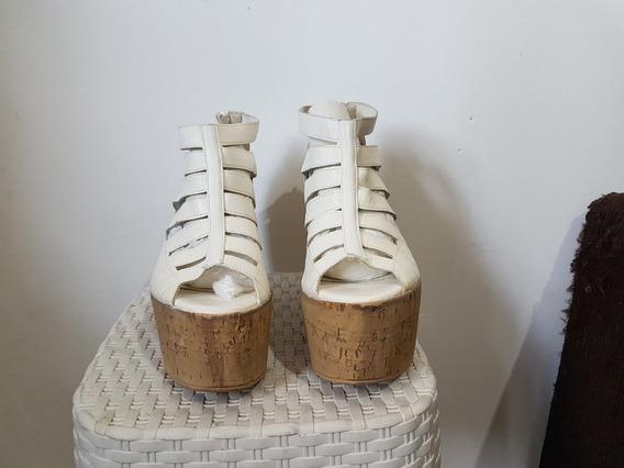 Sandalias Plataforma Blancas Mary Joe Talle:36