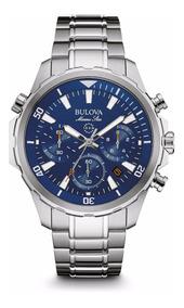 Relógio Bulova Masculino Marine Star Wb31934f 96b256 Azul