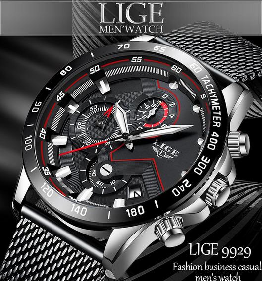Relógio Lige 9929 Sport Cronógrafo Calendário Pronta Entrega
