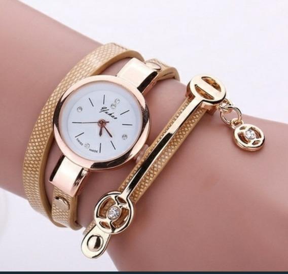 Relógio Feminino , Pulseira Em Couro Retro Vintage