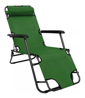Reposera Plegable Playa, Jardin, Camping Reclinable 178 Cro