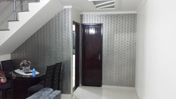 Sobrado Com 3 Dormitórios Sendo 1 Suite ( 2 Vagas E Churrasqueira ) À Venda, 167 M² Por R$ 636.000 - Jardim Lavínia - São Bernardo Do Campo/sp - So0148
