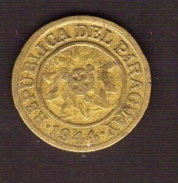 Numismza Paraguay 5 Centisimos 1944 ( M 134) Oferta
