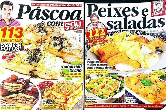 Kit 2 Revistas Páscoa C. Edu Guedes/coz. Da Vovó Palmirinha