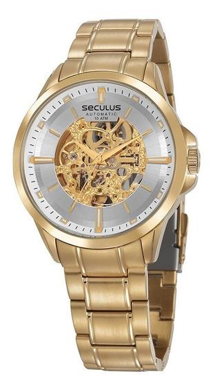 Relógio Esqueleto Automático Original Seculus 20754gpsvda2