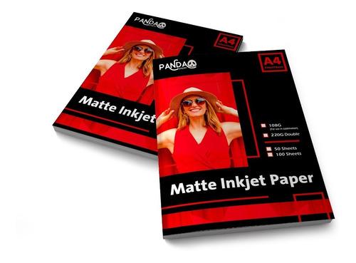 Papel Bifaz Matte A4 220gr Mate Doble Cara X500hs Foto Album