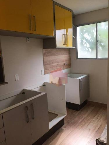 Imagem 1 de 12 de Apartamento Com 2 Dormitórios À Venda, 50 M² Por R$ 220.000,00 - Chácara Letônia - Americana/sp - Ap0298