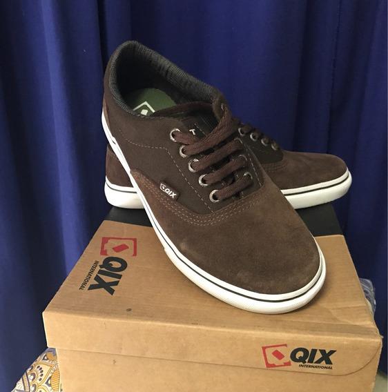 Tênis Qix Skate Marrom Novo Original Promoção