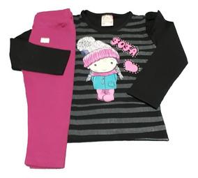 10 Conjunto Feminino Infantil Roupas De Criança Inverno Frio