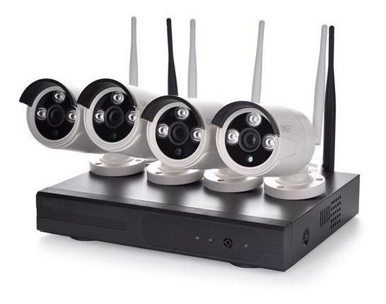 Kit Seguridad 4 Camaras Inalambrico Hd Nvr Wifi Cctv Monitoreo Vigilancia