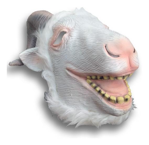 Mascara Latex Cabra Loca Chiva Cabron Granja Chivo Disfraz