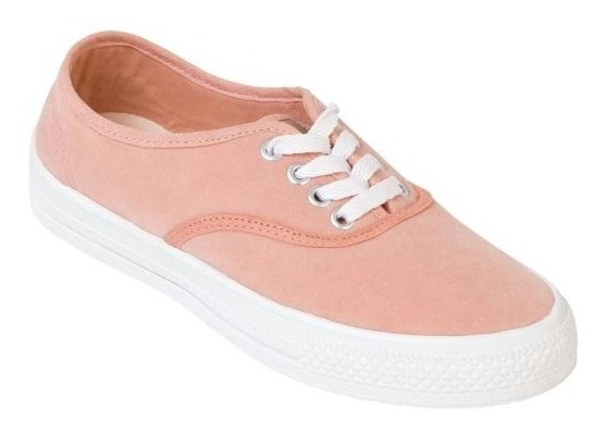 Tênis Rosê Em Sarja Tipo Vans Feminino Adulto
