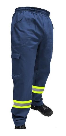Calça De Uniforme Brim Pesado - Com Faixa Refletiva