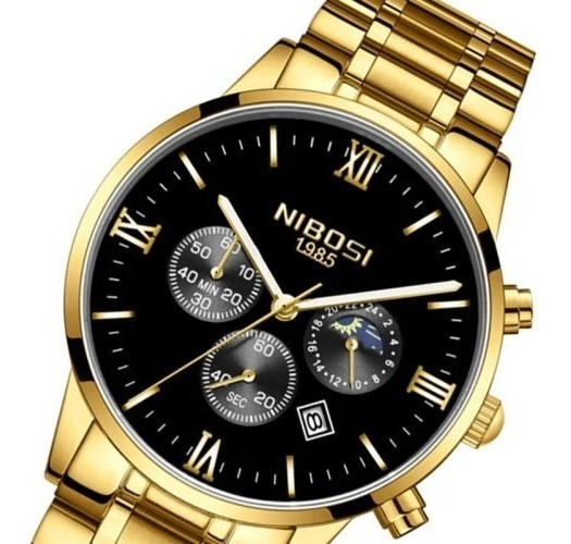 Relógio Masculino Nibosi Luxo Original Ni2325