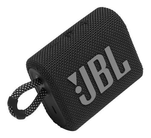 Imagen 1 de 5 de Bocina JBL Go 3 portátil con bluetooth black
