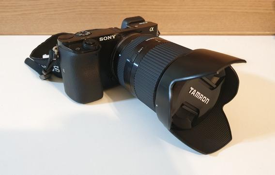 Câmera Sony A6000 Com Lente Tamron 18-200mm Di Iii Vc