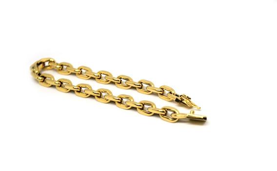 Pulseira Masculina Cadeado Ou Cartier Em Ouro 18 K