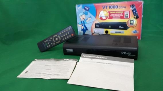Receptor De Antena Parabólica Digital Vt1000 Slim