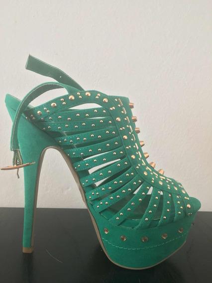 Zapatos Importados De Eeuu. Verdes. Talle 37. Sin Uso