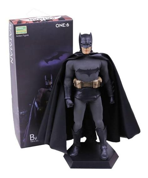 Batman Crazy Toys Ñ Hot Toys Sideshow Clássico Preto Boneco