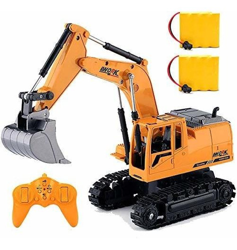 Imagen 1 de 7 de Rc Excavator Truck Toy For Boys Toddlers,1/24 Scales Kids R