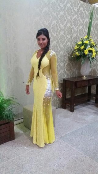 Vestido Sereia Em Pedraria.