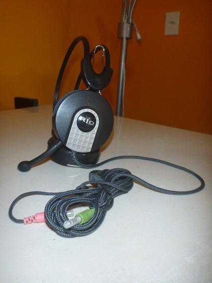 Fone De Ouvidos Com Microfone Estéreo Rio Modelo Rzo