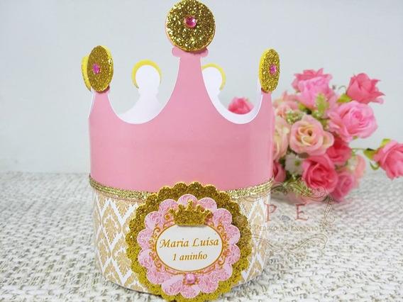 Kit Caixa Coroa Princesa Lembrancinhas Personalizadas 10 Un